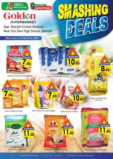 UAE - Sharjah / Ajman Golden Hypermarket offers in D4D Online. Smashing Deals. . Till 9th October