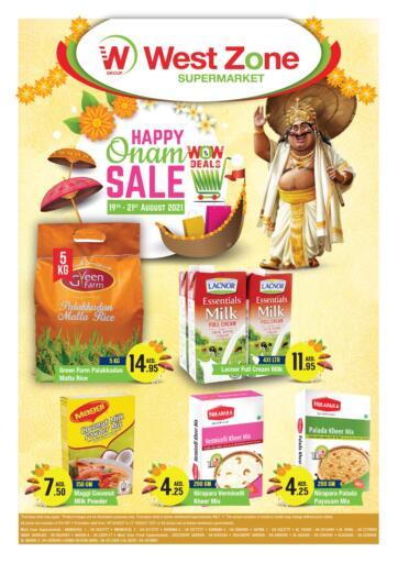 UAE - Sharjah / Ajman West Zone Supermarket offers in D4D Online. Happy Onam. . Till 21st August