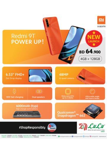 Bahrain LuLu Hypermarket offers in D4D Online. Redmi 9T @ Lulu Bahrain. . Until Stock Last