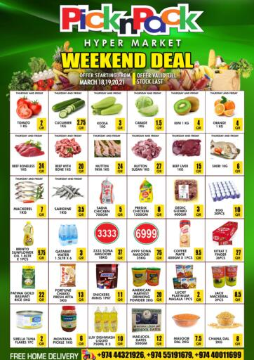Qatar - Al Khor Pick n Pack offers in D4D Online. Weekend Deal. . Till 21st March