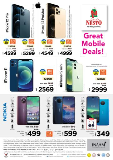 UAE - Dubai Nesto Hypermarket offers in D4D Online. Great Mobile Deals. . Till 10th April