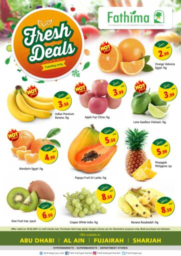UAE - Abu Dhabi Fathima Hypermarkets & Supermarkets offers in D4D Online. Fresh Deals. . Only On 16th February