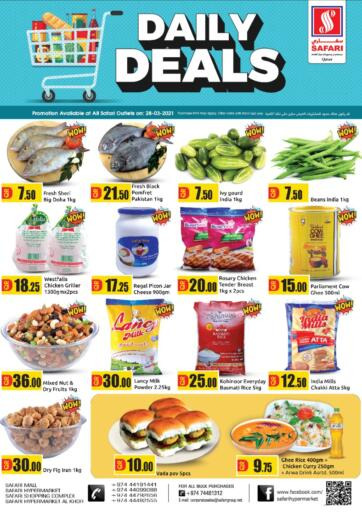 Qatar - Al Wakra Safari Hypermarket offers in D4D Online. Daily Deals. . Only On 28th March