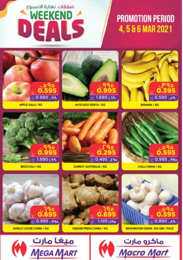 Bahrain MegaMart & Macro Mart  offers in D4D Online. Weekend Deals. . Till 6th March
