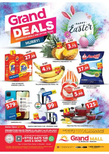 UAE - Sharjah / Ajman Grand Hyper Market offers in D4D Online. Grand Deals. Buy More From Grand Hyper Market.Exciting Offers On Your Favorites Products. Get Them Before 07th April 2021.  Enjoy Shopping!!!. Till 7th April