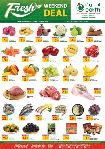 UAE - Dubai Earth Supermarket offers in D4D Online. Weekend Deal. Weekend Deal At Earth Supermarket Available On Fresh Fruits And Vegetables, etc .Offer Valid Till 09th October 2021.  Enjoy Shopping!!!  . Till 09th October