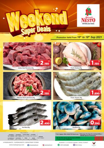 Bahrain NESTO  offers in D4D Online. Weekend super Deals. Weekend super Deals @ NESTO !  Offers on Groceries and Much more are valid Till 18th September. Get it Now Enjoy Shopping!!. Till 18th September