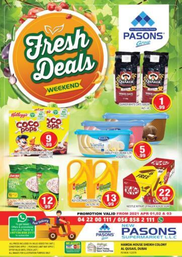 UAE - Dubai Pasons Supermarkets & Hypermarkets offers in D4D Online. Hamda House, Sheikh Colony, Qusais. . Till 3rd April
