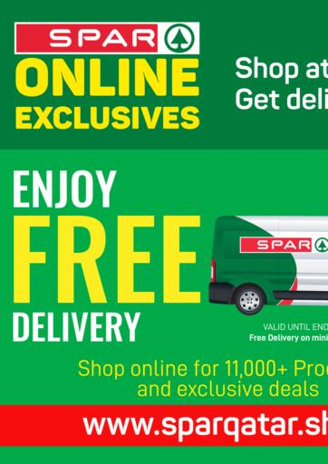 Qatar - Al Rayyan SPAR offers in D4D Online. Online Exclusives. Online Exclusives Offers Are Available At SPAR. Get Your Favourite Products at Exclusive Prices. Offers  Are Valid Until Stock Last .. Grab It Now! Enjoy Shopping!!!. Until Stock Last