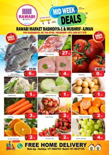 UAE - Sharjah / Ajman Rawabi Market Ajman offers in D4D Online. Mushrif - Midweek Deals. . Till 2nd February