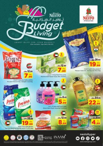 UAE - Dubai Nesto Hypermarket offers in D4D Online. Budget Living Offer 2. . Till 12th September