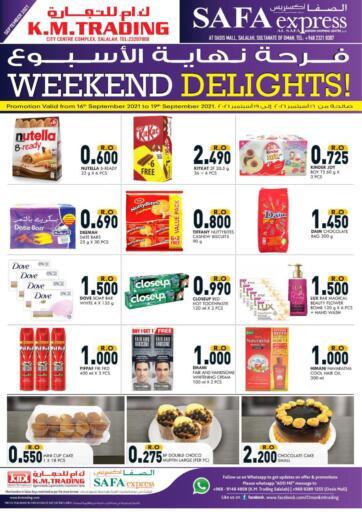 Oman - Salalah KM Trading  offers in D4D Online. Weekend Delights!. . Till 19th September