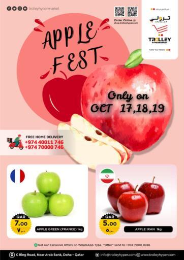 Qatar - Al Rayyan Trolley Hypermarket offers in D4D Online. Apple Fest. . Till 19th October