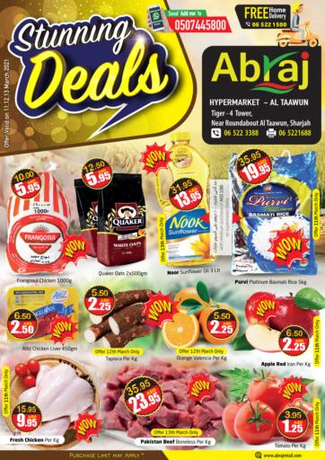 UAE - Sharjah / Ajman Abraj Hypermarket offers in D4D Online. Stunning Deals. . Till 13th March