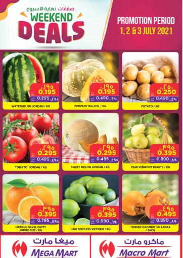 Bahrain MegaMart & Macro Mart  offers in D4D Online. Weekend Deals. Weekend Deals At MegaMart & MacroMart! Offer Includes Groceries, Fruits, Vegetables & much more at reduced prices. Offer Valid Till 03rd July. Happy Shopping!!. Till 03rd July