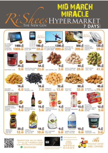 UAE - Abu Dhabi Rishees Hypermarket offers in D4D Online. Mid March Miracle. . Till 23rd March