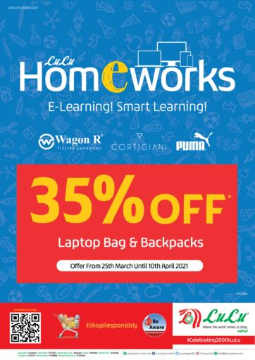 Bahrain LuLu Hypermarket offers in D4D Online. Home Works 35%Off. . Till 10th April