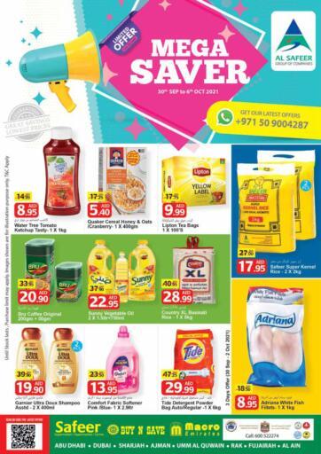 UAE - Sharjah / Ajman Safeer Hyper Markets offers in D4D Online. Mega Saver. Mega Saver With Killer Deals.Offer Valid Till 06th October 2021. Enjoy Shopping!!!. Till 6th October