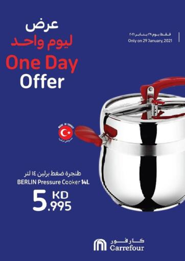 Kuwait Carrefour offers in D4D Online. One Day Offer. . Only On 29th January
