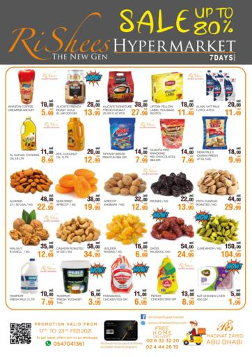 UAE - Abu Dhabi Rishees Hypermarket offers in D4D Online. Sale Up To 80%. . Till 23rd February