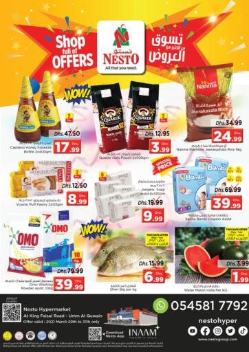 UAE - Umm al Quwain Nesto Hypermarket offers in D4D Online. Umm Al Quwwain. Visit Your Nearest Nesto Hypermarket And Get Everything At Exciting Offers Before 31st March 2021.  Enjoy Shopping!!!. Till 31st March