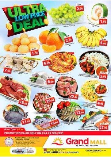 UAE - Sharjah / Ajman Grand Hyper Market offers in D4D Online. Musallah, Sharjah. It's Low Price Deal at Grand Hyper Market. Exclusive Offer For Selected Items. Get Your Favourite Products at Best Prices. This Offer is Valid Till 24th  February 2021. Enjoy Shopping!. Till 24th February