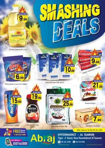 UAE - Sharjah / Ajman Abraj Hypermarket offers in D4D Online. Smashing Deals@Taawun. . Till 9th October