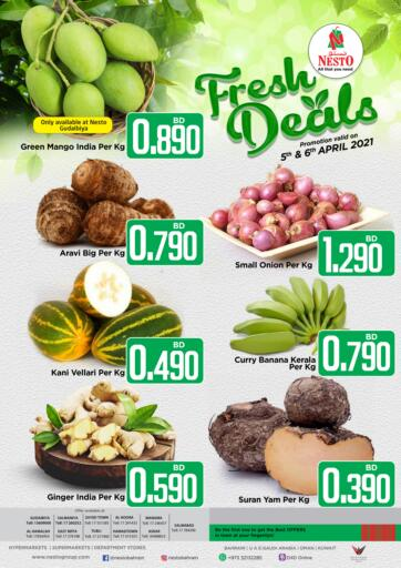 Bahrain NESTO  offers in D4D Online. Fresh Deals. Fresh Deals @ NESTO!! Get Unbelievable Discounts On Fresh Fruits& Veggies & Much More At Nesto. Avail This Offer Till 06th April! Hurry Now!! Have a Good Shopping!!. Till 06th April