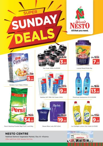 UAE - Ras al Khaimah Nesto Hypermarket offers in D4D Online. Sunday Deals. . Only on 3rd January