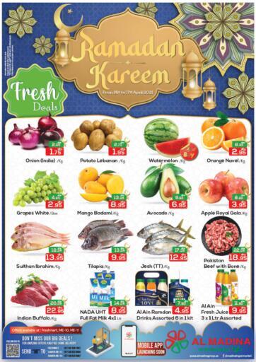 UAE - Abu Dhabi Al Madina Hypermarket offers in D4D Online. Fresh Deals @Freshmart, ME-10 ,ME-11. . Till 17th April