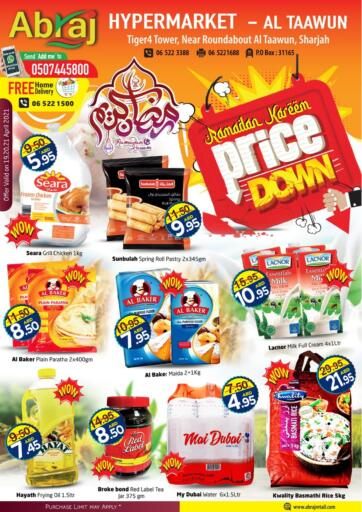 UAE - Sharjah / Ajman Abraj Hypermarket offers in D4D Online. Price Down. . Till 21st April