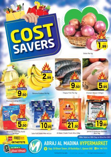 UAE - Sharjah / Ajman Abraj Hypermarket offers in D4D Online. Cost Savers @al madina. . Till 2nd October