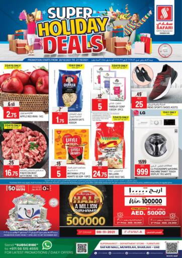 UAE - Sharjah / Ajman Safari Hypermarket  offers in D4D Online. Super Holiday Deals. . Till 27th October
