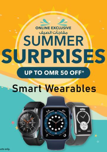 Oman - Sohar Sharaf DG  offers in D4D Online. Summer Surprises - Smart Wearables. . Until Stock Last