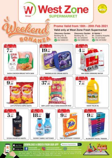 UAE - Dubai West Zone Supermarket offers in D4D Online. Weekend Bonanza. . Till 20th February