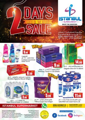 UAE - Dubai Istanbul Supermarket offers in D4D Online. 2 Days Midweek Sale. . Till 16th February