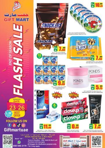 UAE - Sharjah / Ajman GIFT MART- Sharjah offers in D4D Online. Flash Sale. Shop Your  Favorite Products  From Gift Mart With Their  Flash Sale. Offer Valid Till 26th September 2021.  Enjoy Shopping!!!. Till 26th September