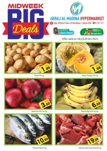 UAE - Sharjah / Ajman Abraj Hypermarket offers in D4D Online. Midweek Big Deals @ Rashidiya. . Till 20th October