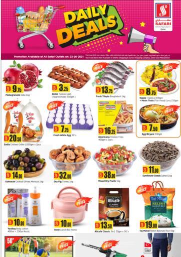 Qatar - Al-Shahaniya Safari Hypermarket offers in D4D Online. Daily Deals. . Only On 23rd June