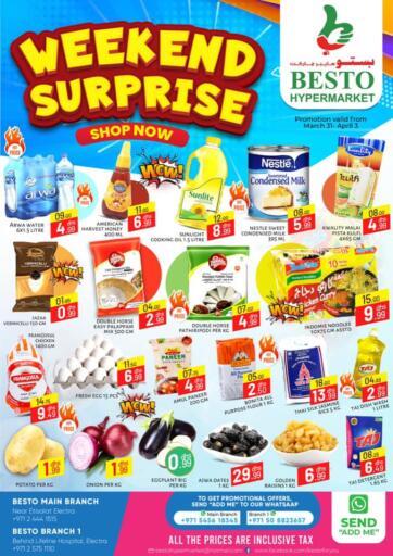 UAE - Abu Dhabi Besto Hypermarket offers in D4D Online. Weekend Surprise. . Till 3rd April