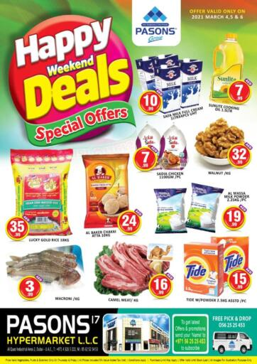 UAE - Dubai Pasons Supermarkets & Hypermarkets offers in D4D Online. Al Qouz - Happy Weekend Deals. . Till 6th March