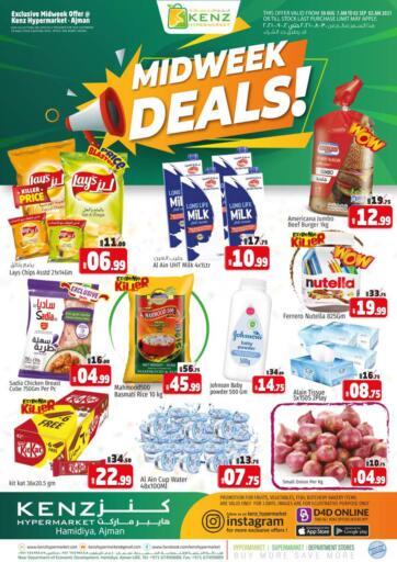 UAE - Sharjah / Ajman Kenz Hypermarket offers in D4D Online. Midweek Deals.  Weekend Deals Now Available At Kenz Hypermarket. Rush Now And Get Everything At Best Price. Offer Valid Till 01st September 2021.  Enjoy Shopping!!!. Till 1st September