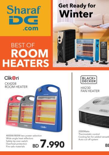 Bahrain Sharaf DG offers in D4D Online. Best Of Room Heaters. Get Ready For Winter and Buy The Best Of Room Heaters At Amazing Prices Only at Sharaf DG! Offer Valid Till 31st December  2020. Enjoy Shopping!!!. Till 31st December