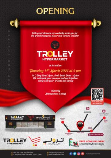Qatar - Umm Salal Trolley Hypermarket offers in D4D Online. Opening. . On 11th March