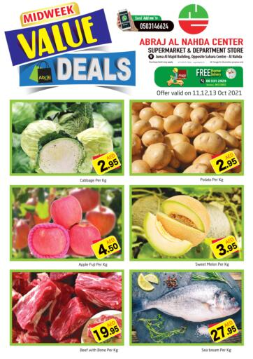 UAE - Sharjah / Ajman Abraj Hypermarket offers in D4D Online. Midweek Value Deals @ Al Nahda. . Till 13th October