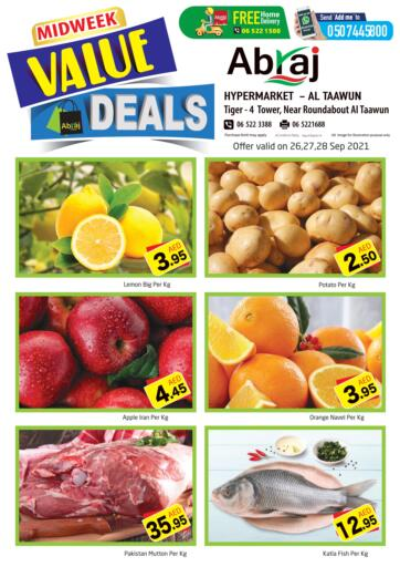 UAE - Sharjah / Ajman Abraj Hypermarket offers in D4D Online. Mid week Deals. . Till 28th September