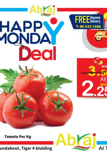 UAE - Sharjah / Ajman Abraj Hypermarket offers in D4D Online. Happy Monday Deal. . Only On 01st March