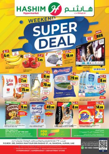 UAE - Sharjah / Ajman Hashim Hypermarket offers in D4D Online. Weekend Super Deal. Do not miss the