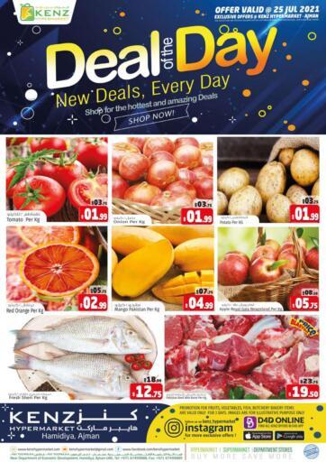 UAE - Sharjah / Ajman Kenz Hypermarket offers in D4D Online. Sunday Deals. . Only On 25th July