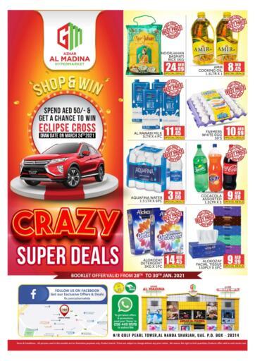 UAE - Sharjah / Ajman Azhar Al Madina Hypermarket offers in D4D Online. Crazy Super Deals. . Till 30th January